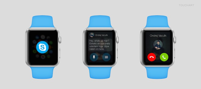 Skype na Apple Watch - svetapple.sk