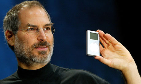 Apple CEO Steve Jobs introduces the new mini iPod in San Francisco in 2004