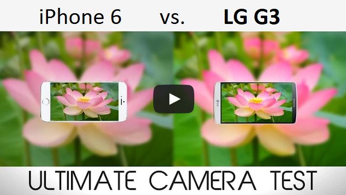 Porovnanie fotoaparátov iPhone 6 a LG G3