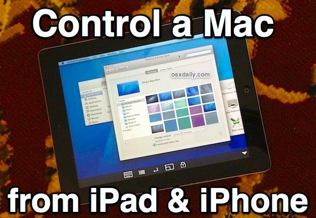 Ovládajte Mac pomocou iPadu