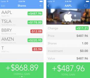 Pokiaľ investujete, niekedy vás zaujíma jednoducho koľko ste (ne)zarobili. Presne na to slúži aplikácia Shares 2