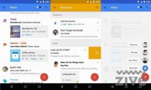 Google inbox skĺbil dizajn s funkčnosťou