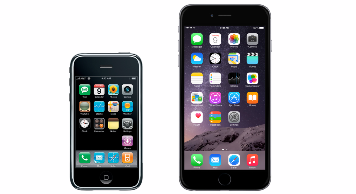 iPhone 2G vs. iPhone 6 Plus - svetapple.sk