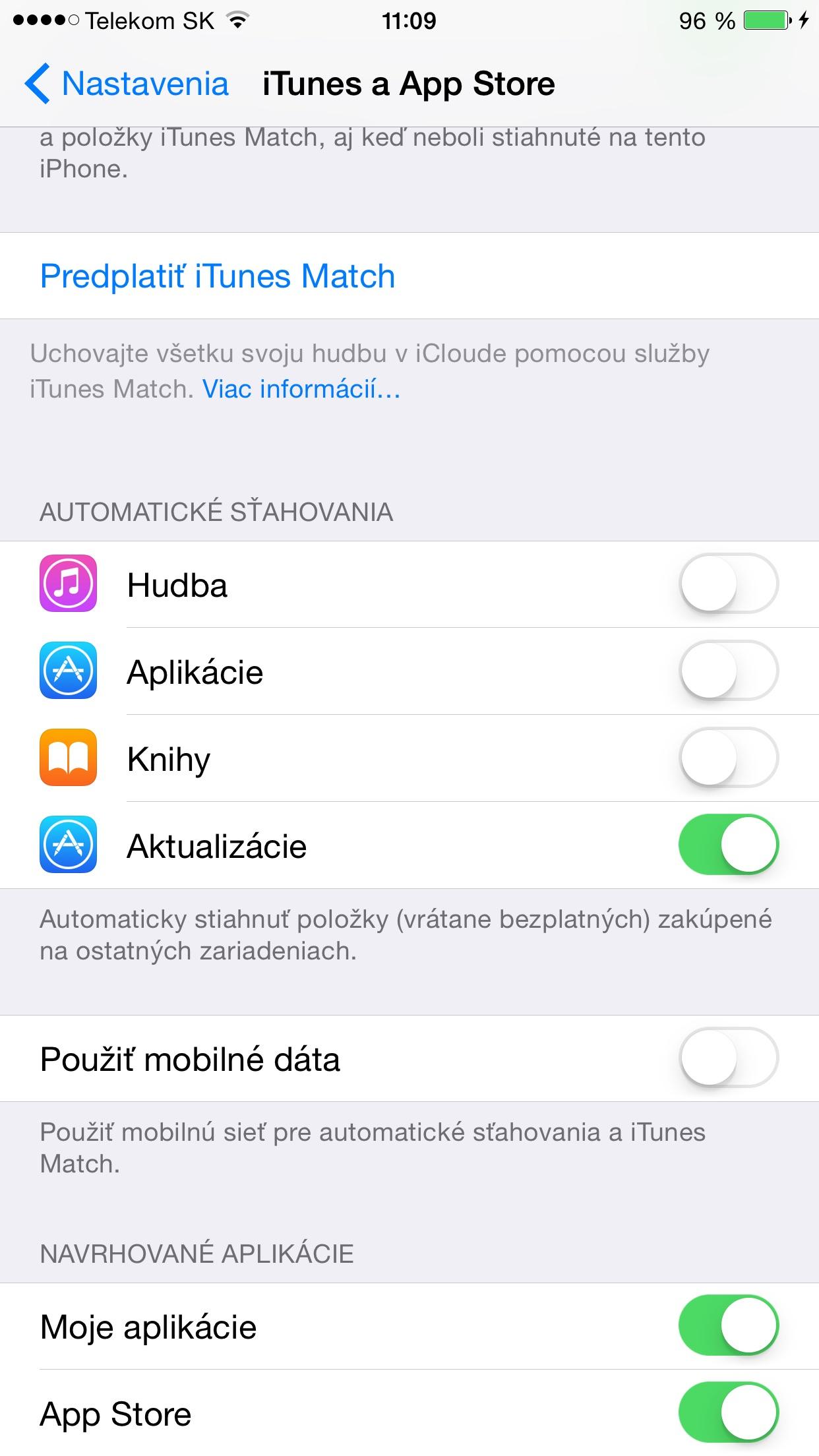 Automatické aktualizaácie - svetapple.sk