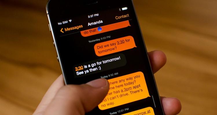 Prevrátené farby pomáhajú napríklad pri čítaní SMS správ! :