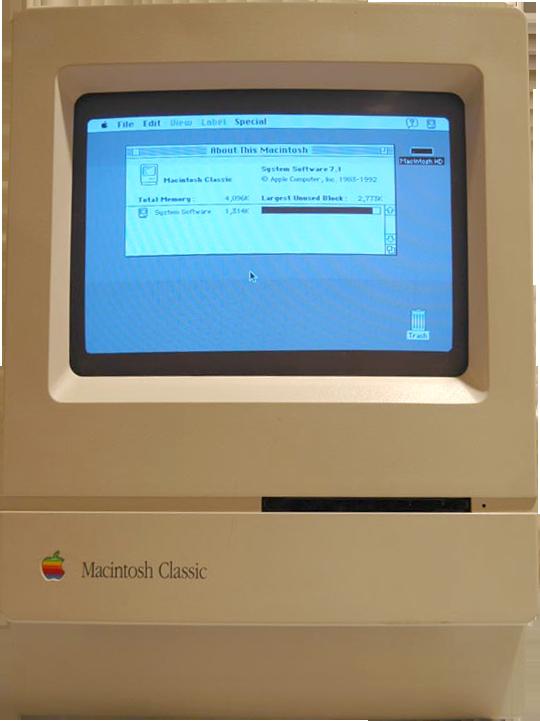 Macintosh Classic - svetapple.sk