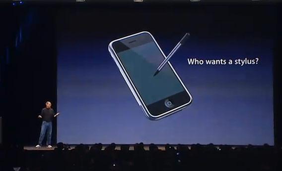 Pri predstavovaní prvého iPhonu Steve znemožnil Stylusy - svetapple.sk