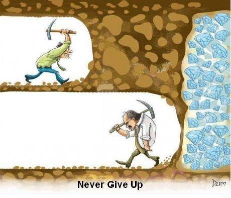 Choďte si za svojim a nikdy to nevzdávajte