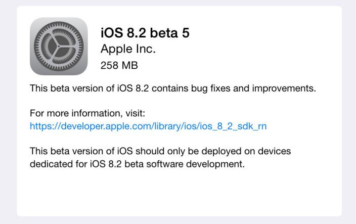iOS 8.2 beta 5- svetapple.sk