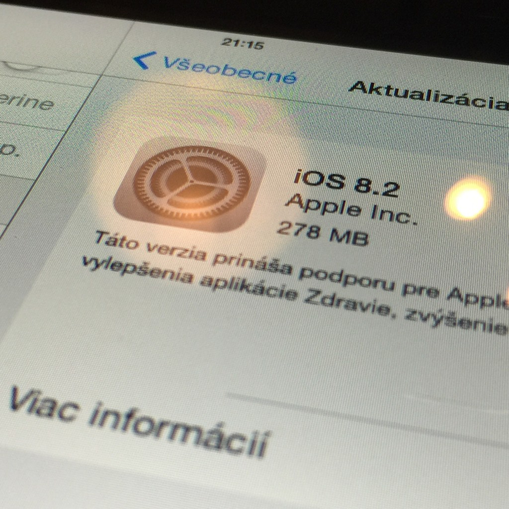 iOS 8.2 - svetapple.sk