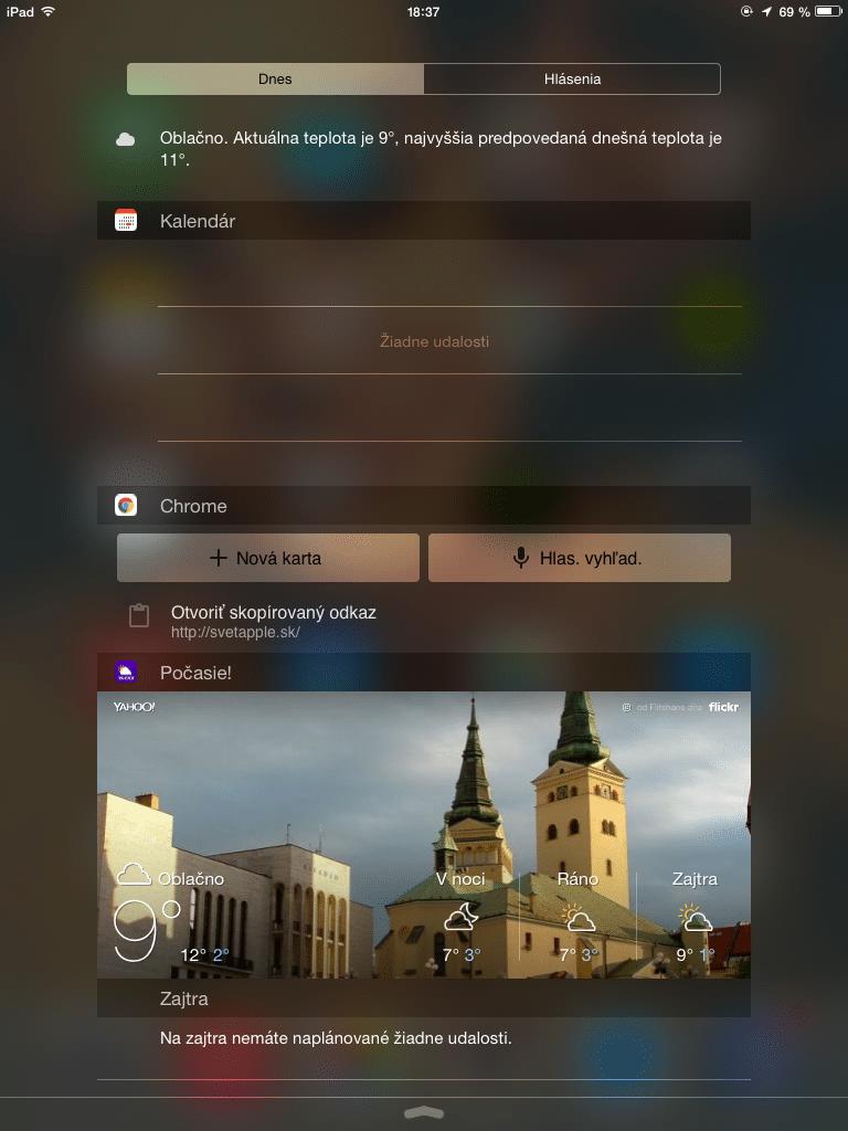 Notifikačné centrum - svetapple.sk