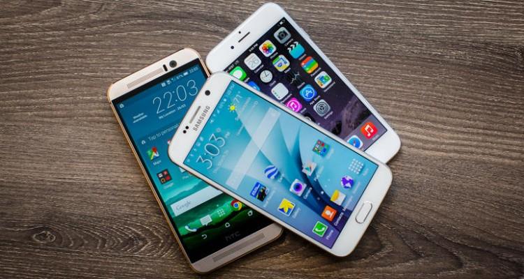 HTC One M9 vs. iPhone 6 vs. Samsung Galaxy S6