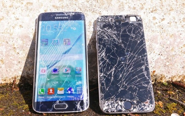 iPhone 6 vs. Samsung Galaxy S6 Edge drop test - svetapple.sk.