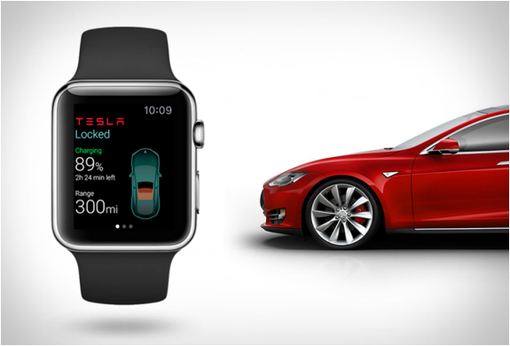Tesla a Apple Watch - svetapple.sk