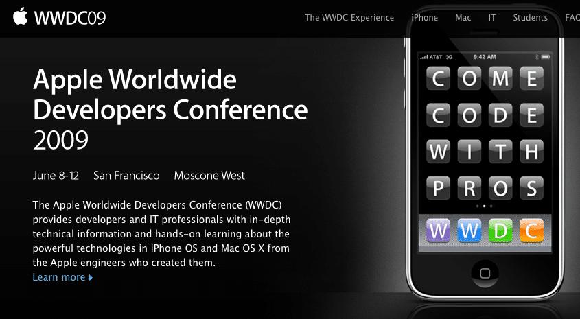 WWDC 2009 - svetapple.sk