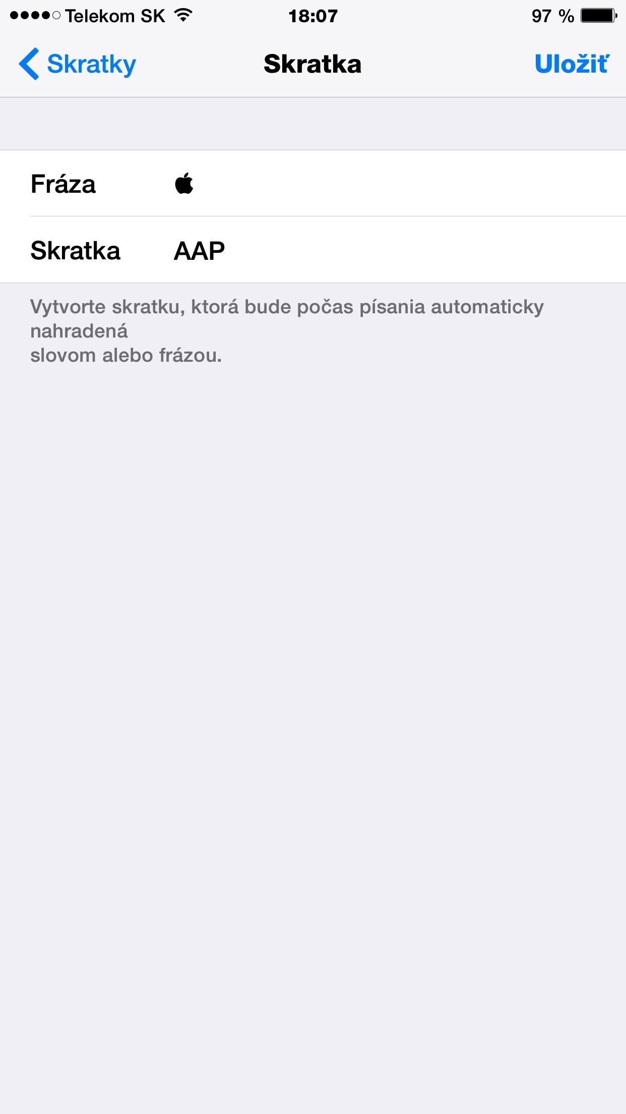 Návod na to, ako písať Jabĺčko v spravách - svetapple.sk