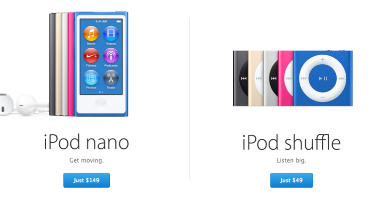 iPod Nano a iPod Shuffle - svetapple.sk
