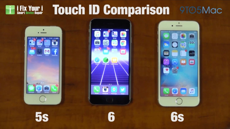 iPhone 5S vs. iPhone 6 vs. iPhone 6S porovnanie Touch ID - Svetapple.sk e5eee9bbbc5