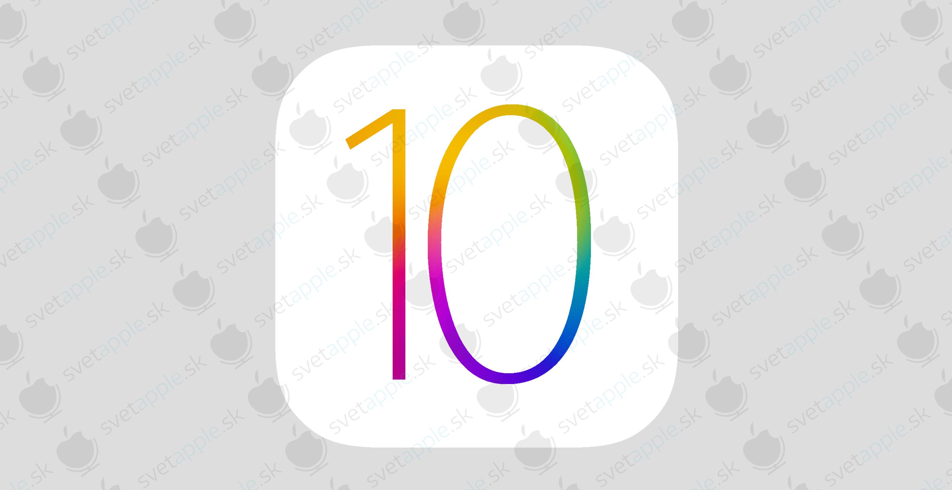 iOS 10 veľké