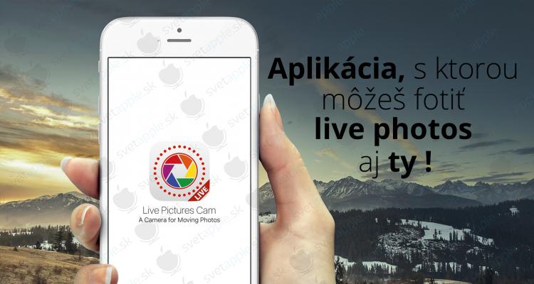 live photos app- titulná fotografia - svetapple