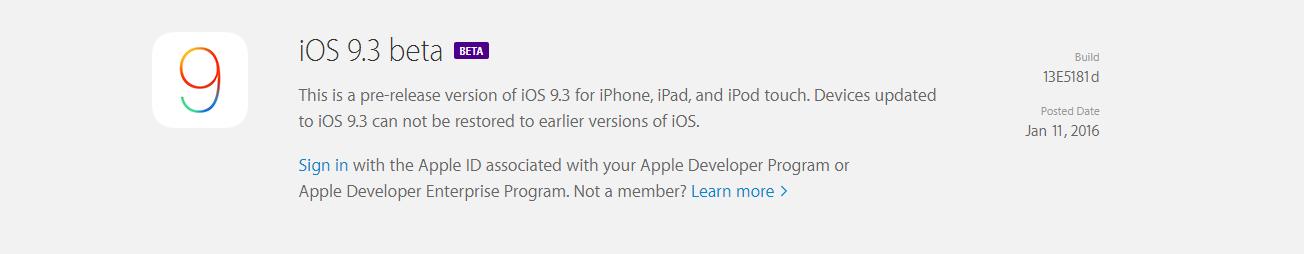 iOS 9.3 beta - SvetApple