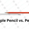 Apple Pencil vs. normálna ceruzka