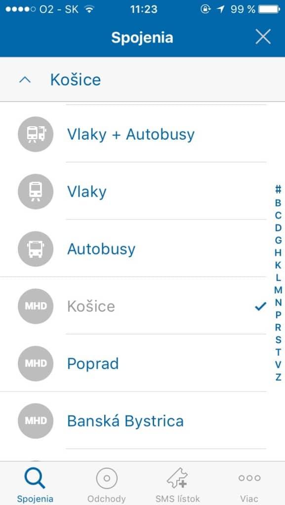 Vyhľadávanie spojení -- Svetapple.sk