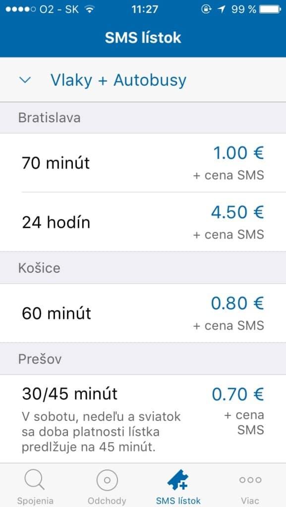 SMS Lístok -- Svetapple.sk