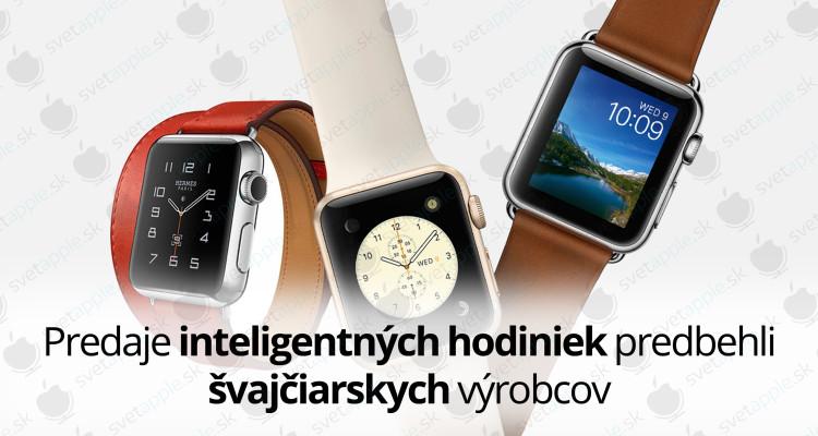 Predaje inteligentných hodiniek predbehli švajčiarskych výrobcov
