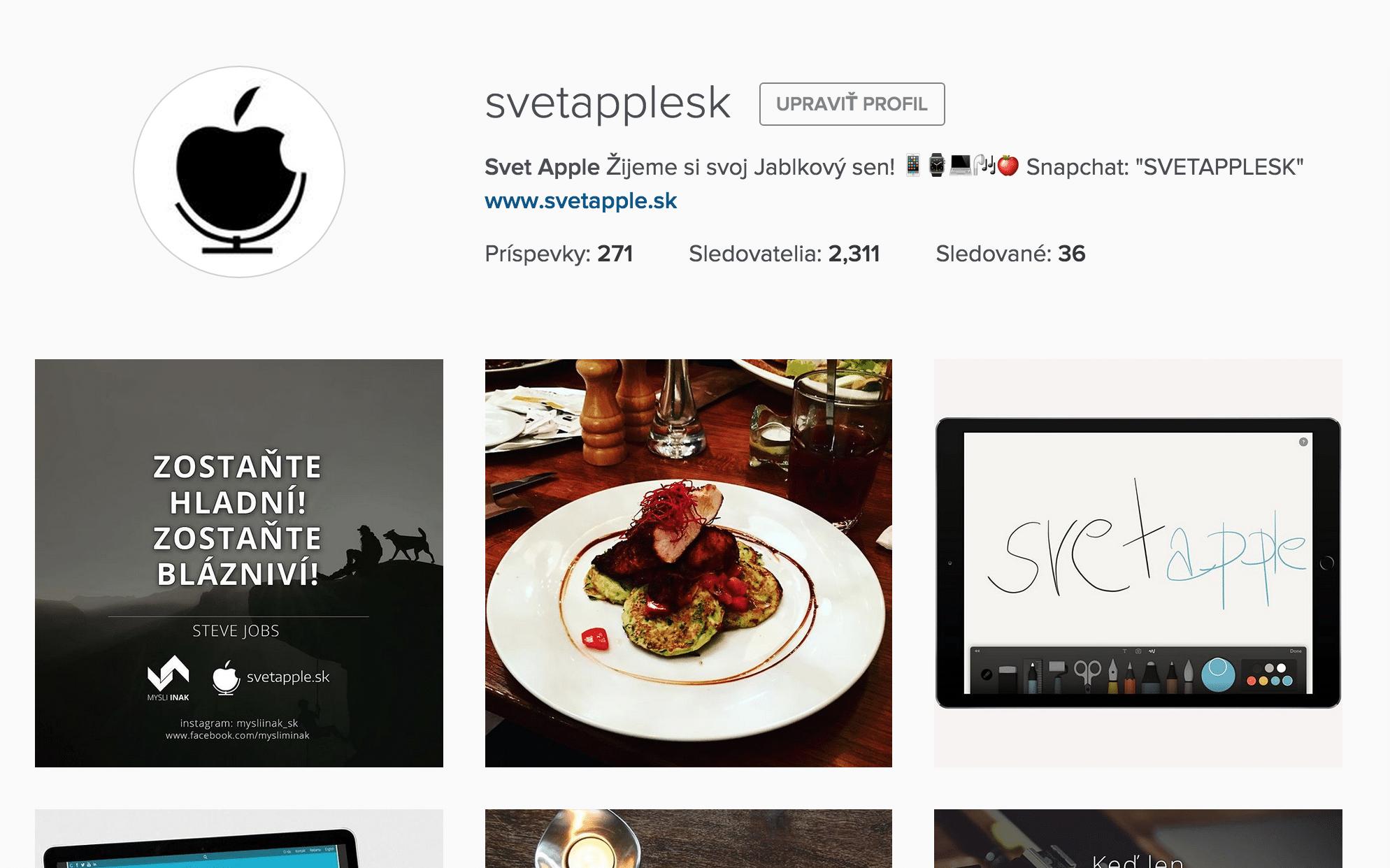 svetapple.sk na instagrame!