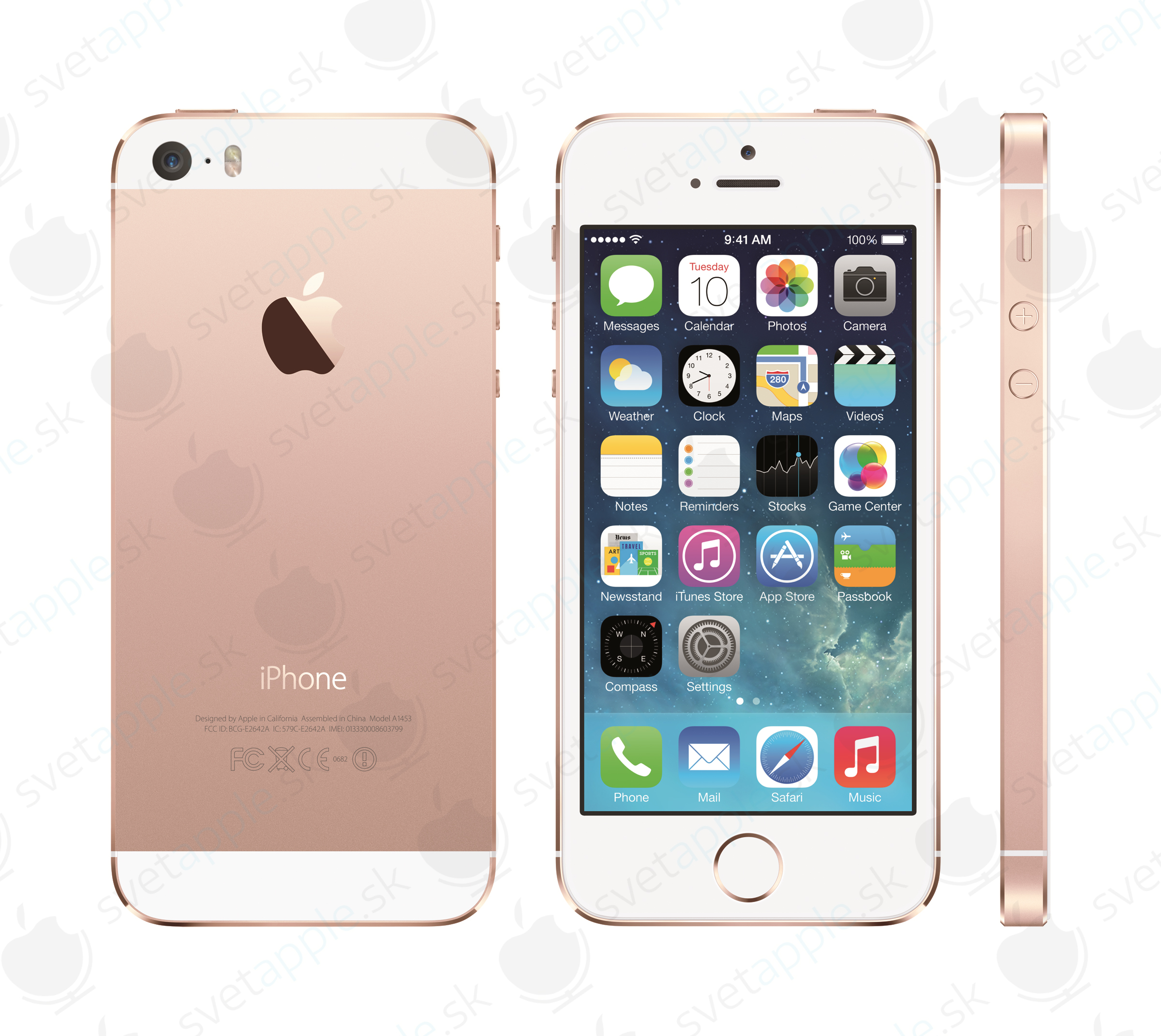 Rose Gold, iPhone 5S - svetapple.sk
