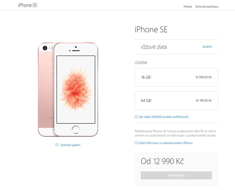 iPhone SE ceny - SvetApple.sk