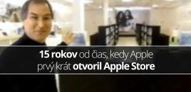 15 rokov od čias, kedy Apple prvý krát otvoril Apple Store
