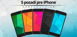 5 pozadí od SvetApple.sk pre iPhone |22.05.2016|
