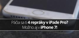 Páčia sa ti 4 repráky v iPade Pro? Možno aj v iPhone 7!