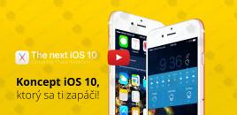 Koncept iOS 10, ktorý sa ti zapáči!