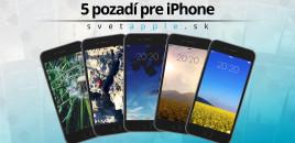 5 pozadí od SvetApple.sk pre iPhone |29.05.2016|