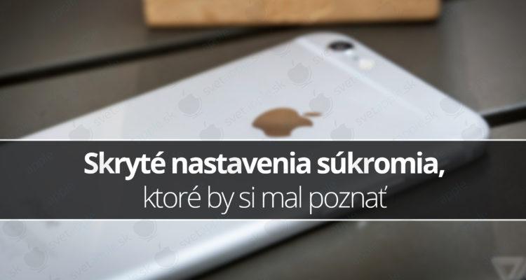 iphone súkromie nastavenia