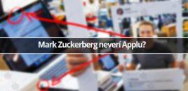 Mark Zuckerberg neverí Applu?
