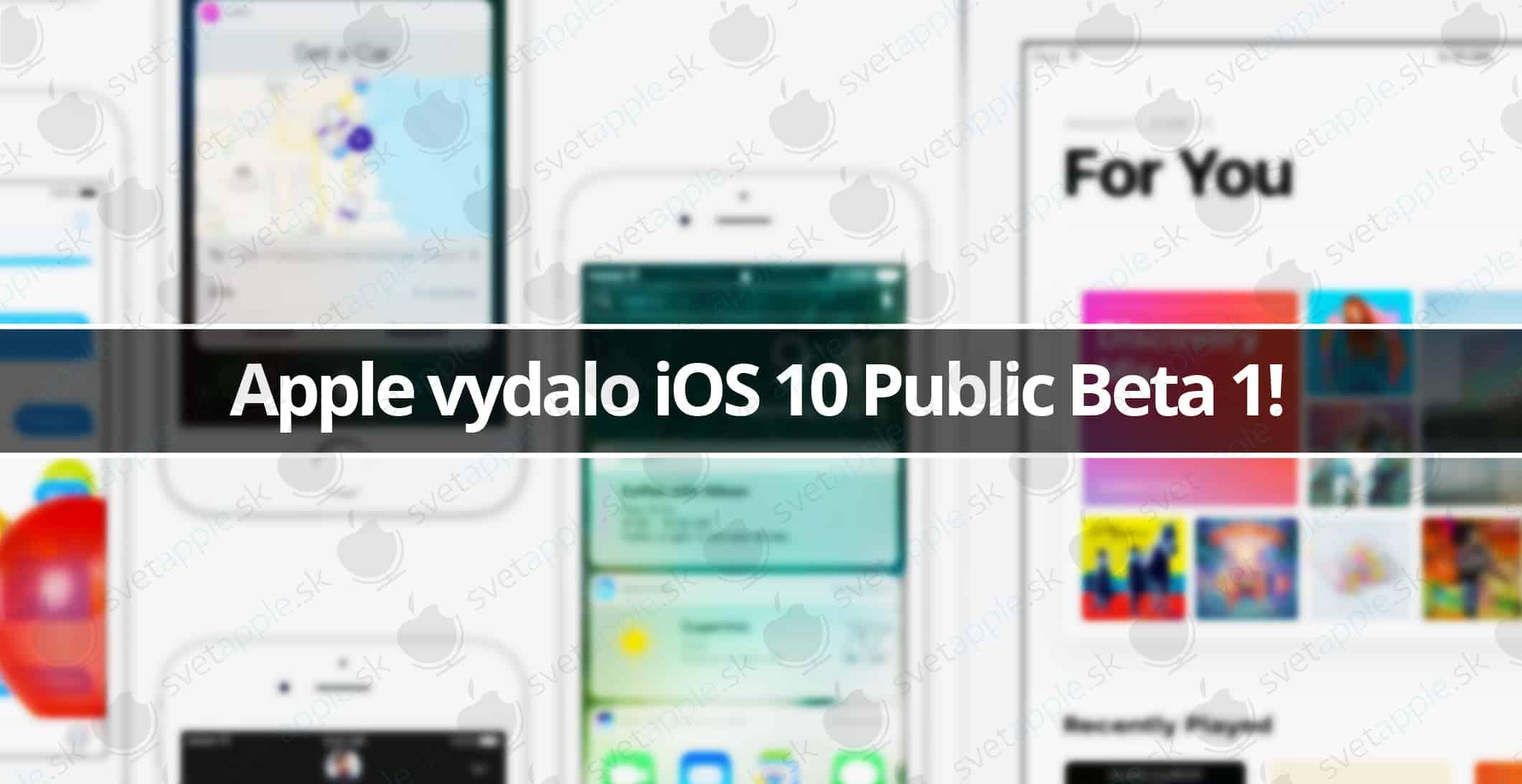 Apple vydalo iOS 10 Public Beta 1