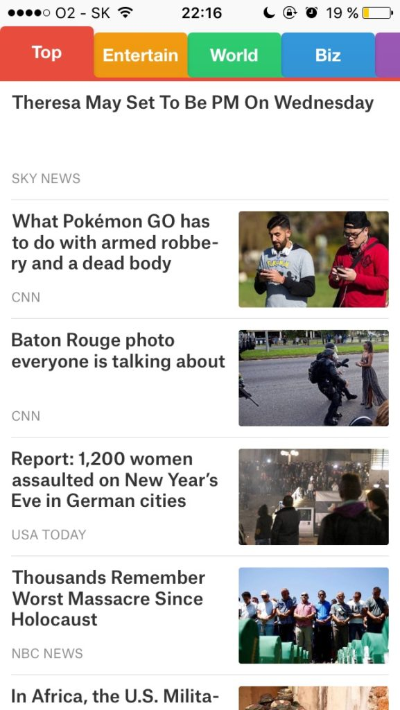 SmartNews iPhone App