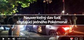 Neuveriteľný dav ľudí chytajúci jedného Pokémona!