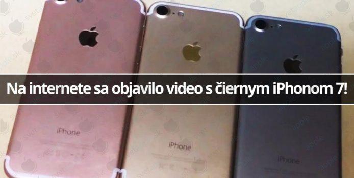 Na internete sa objavilo video s čiernym iPhonom 7!
