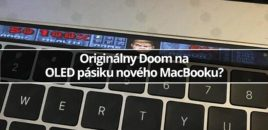 Originálny Doom na OLED pásiku nového MacBooku?
