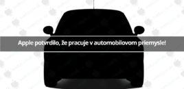Apple potvrdilo, že pracuje v automobilovom priemysle