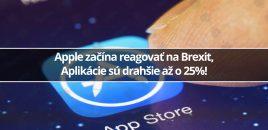 Apple začína reagovať na Brexit, Aplikácie sú drahšie až o 25%!