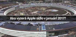 Ako vyzerá Apple sídlo v januári 2017?