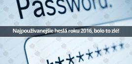 Najpoužívanejšie heslá roku 2016, bolo to zlé!