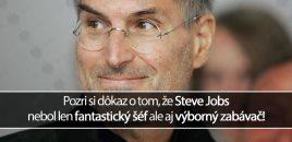 Pozri si dôkaz o tom, že Steve Jobs nebol len fantastický šéf ale aj výborný zabávač!