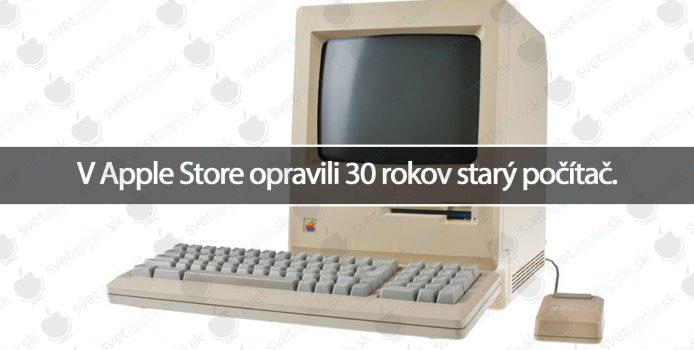 V Apple Store opravili 30 rokov starý počítač.